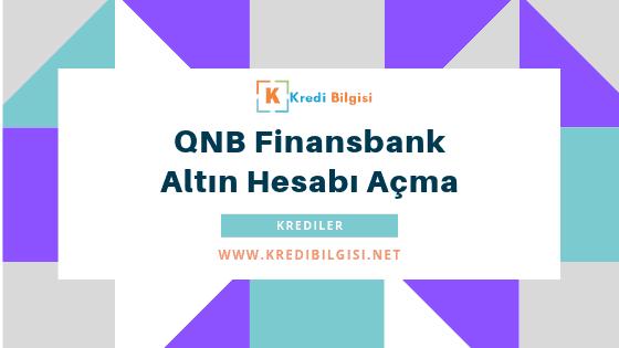 finansbank altın hesabı açma