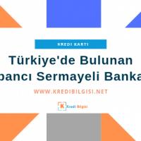 yabancı sermayeli bankalar