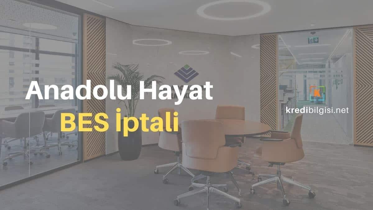 Anadolu Hayat BES İptali | Bireysel Emeklilik Cayma 5755