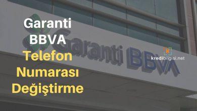 Garanti Bankası Telefon Numarası Değiştirme Güncelleme
