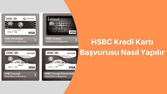 hsbc kredi kartı başvurusu sms