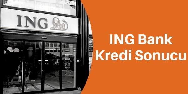 ING bank kredi sonucu sorgula