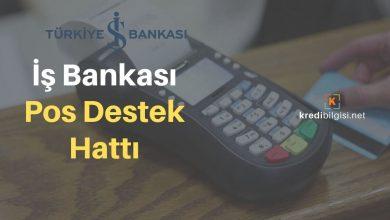 İş Bankası Pos Destek Hattı Numarası: 0850 724 7 767