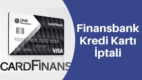 finansbank kredi kartı iptali