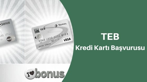 teb kredi kartı başvurusu