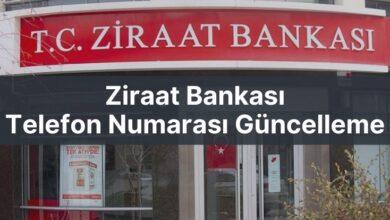 ziraat bankası telefon numarası güncelleme
